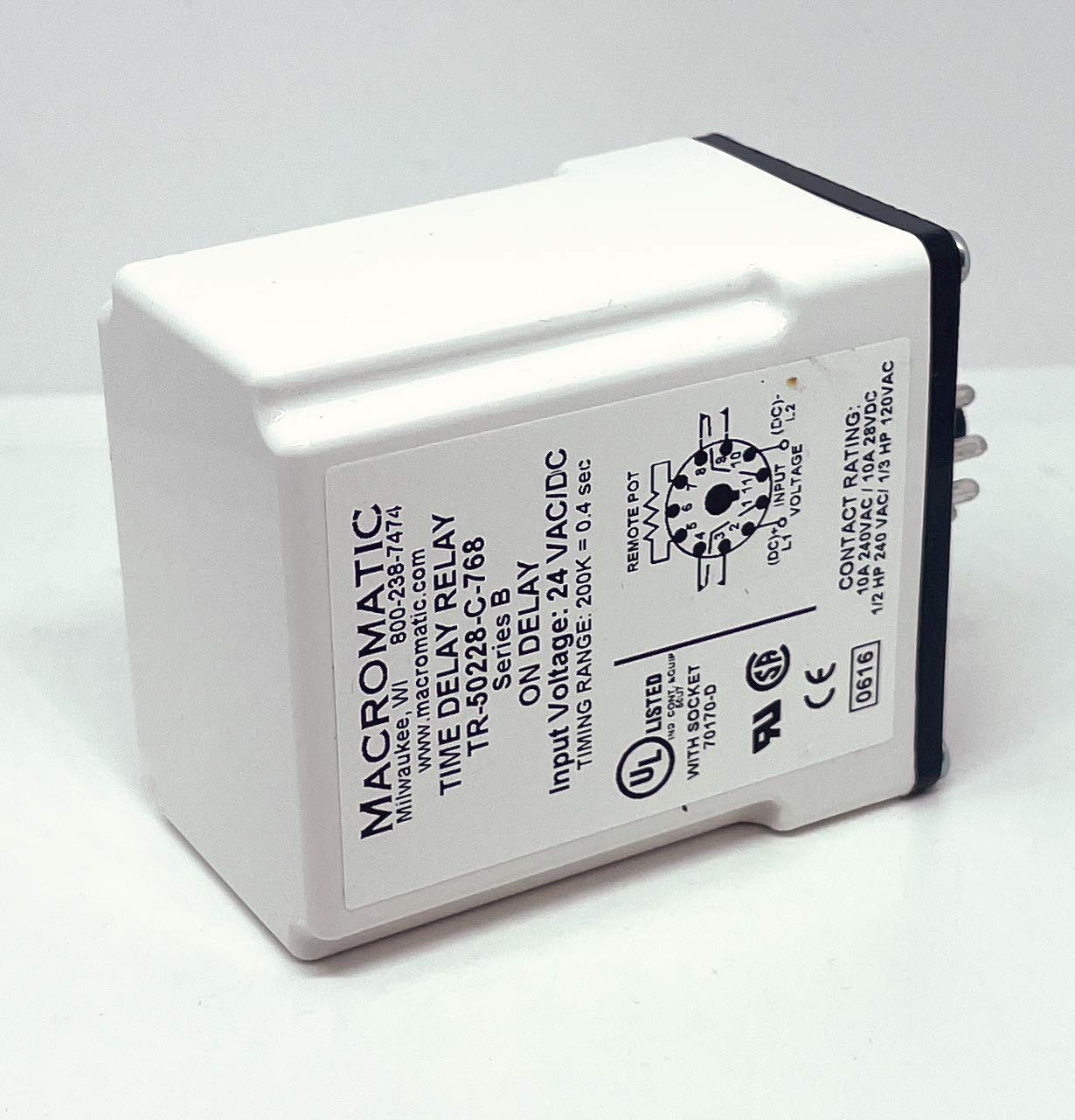 MACROMATIC Max 87% OFF Outlet ☆ Free Shipping TIME DELAY Relay
