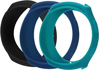 [3 Pack-Black,Blue,Cyan] Case for Samsung Gear S2 (SM-R720/R730), AKWOX [Shock-Proof][ Shatter-Resistant] Protective Band Cover Case (NOT FIT S2 Classic SM-R732 & SM-R735)