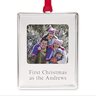 Things Remembered Personalized Silver Photo Ornament with Engraving Included