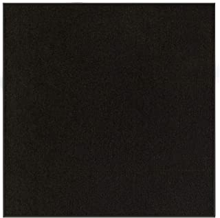 Indoor/Outdoor Black Area Rugs with Premium Non Skid Backing Great for Patio, Porch, Deck, Party, Garage, Boat, Event, Basement, Wedding Tents and More Available Size 3' Square