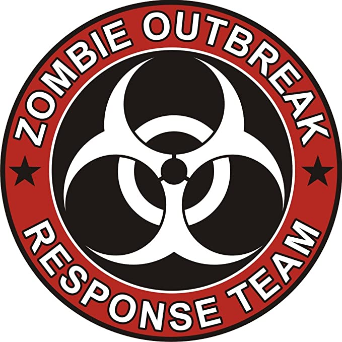 Zombie Outbreak Response Team Vinyl Decal Sticker Car Van Laptop Tablet Wall
