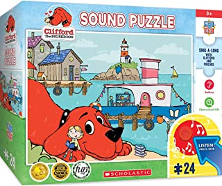 MasterPieces Clifford The Big Red Dog - Library Boat 24-Piece Sing-A-Long Sound Puzzle (12002)