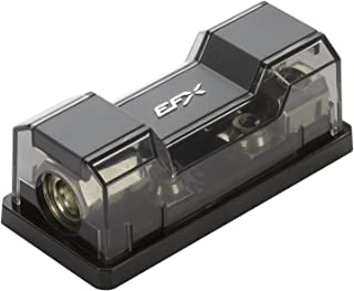 SCOSCHE EFXFDBUDM 0/4-4/8GA Dual Universal Mini-ANL Distribution Block; (1) 0/4GA to (2) 4/8GA, incl. gnd Plate, Retail Double Blister