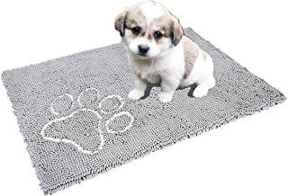 Cosyroom Chenille Microfiber Dog Doormat for Dirty Dogs Ultra Absorbent Dog Door Mat Rugs Machine Washable Large Size 26 x 36 Inch