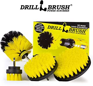 Original Drill Brush Power Scrubber 4-Pack Attachment Set. Attach to Power Drill for Fast, Easy Car Detailing. Removes Tough Bathroom Grime. Instantly Cleans Dirty Carpet Stains, Boat, RV, Shower