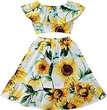 CM C&M WODRO Summer Little Girl Summer Dress Pleated Tube top Floral Print Long Skirt