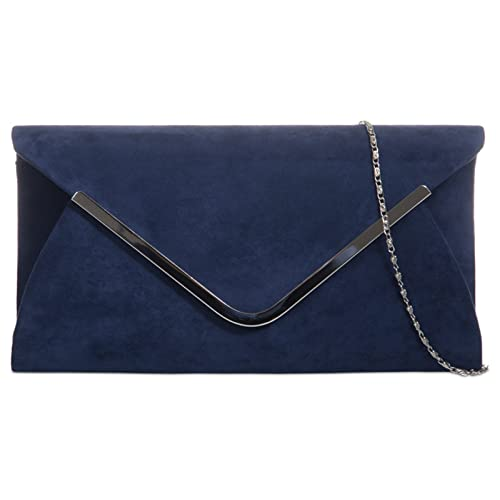 Navy Clutch Bags: Amazon.co.uk