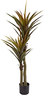 """Nearly Natural 56"""" Yucca Artificial Silk Trees, Green"""