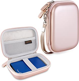 Canboc EVA Shockproof Carrying Case for WD My Passport, WD Elements/Seagate Expansion, Seagate Backup Plus Slim 1TB 2TB 3TB 4TB USB 3.0 Portable External Hard Drive Storage Pouch Box Bag, Rose Gold