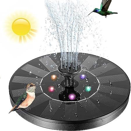 Vizor Solar Bird Bath Fountain Pump, Bird Bath Fountains Solar Power Bird Bath Fountain Pump Solar Bird Bath Fountain Pump, 3.8w Solar Fountain Pump with Led Light, for Outdoor Bird Bath,