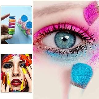 Leiyini Professional Natural 6 Colors Lasting Shimmer Eyeshadow Pigment Matte Eyeshadow Multi Reflective Fairy Cosmetic Eye Waterproof EyeShadows Neon Powder Nail Powder