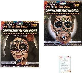 Day of the Dead/Dia de los Muertos Face Temporary Tattoos (w/checklist)
