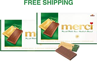 Merci Chocolate Tablets- ALMOND-MILK-NUT 2 x 100 g, Merci/Germany