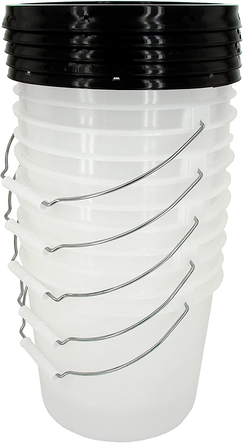 Natural 2 Gallon Bucket with SNAP Max 65% New product!! OFF Black Gasketed Lid 5