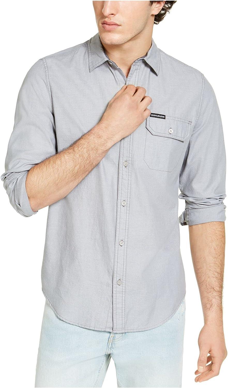 Calvin Max 69% OFF Klein Jeans Our shop most popular Men's Shirt Down Button Denim