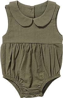 الرضع طفلة ملابس السروال القصير الصيف حللا قصيرة الأكمام نيسيي الرضع طفل الملابس فتاة (Color : Green, Size : 73CM)