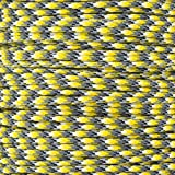 PARACORD PLANET Paracord with WindIt Wizard – 100 Foot Paracord with Black Winding Tool – Various Uses and Features (Yellow Camo)