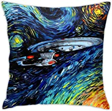 Fall Home Decorative Throw Pillow Covers 18x18 Inch, Allergy Control, Star Trek Oil Painting Art Pillow Case Cushion Cover...