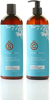 K+S Agran Oil Shampoo & Conditioner Set 16oz – Amber Series Salon Quality - Sulfate Free - Essential Nutrients For Your Ha...