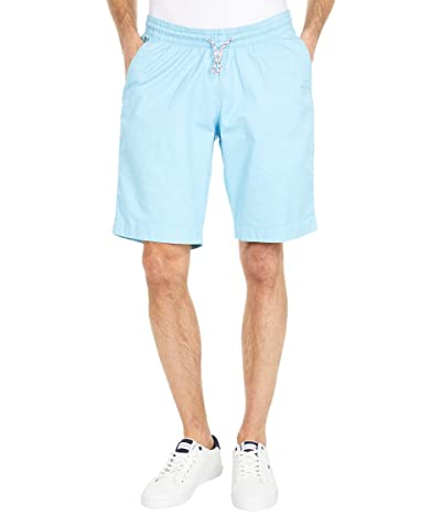 Tommy Hilfiger Adaptive Seated Fit Stretch Cotton Shorts (Chilly Blue) Men