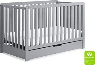 Carter's by Davinci Colby 4-in-1 Convertible Crib with Trundle Drawer in Grey   Greenguard Gold Certified