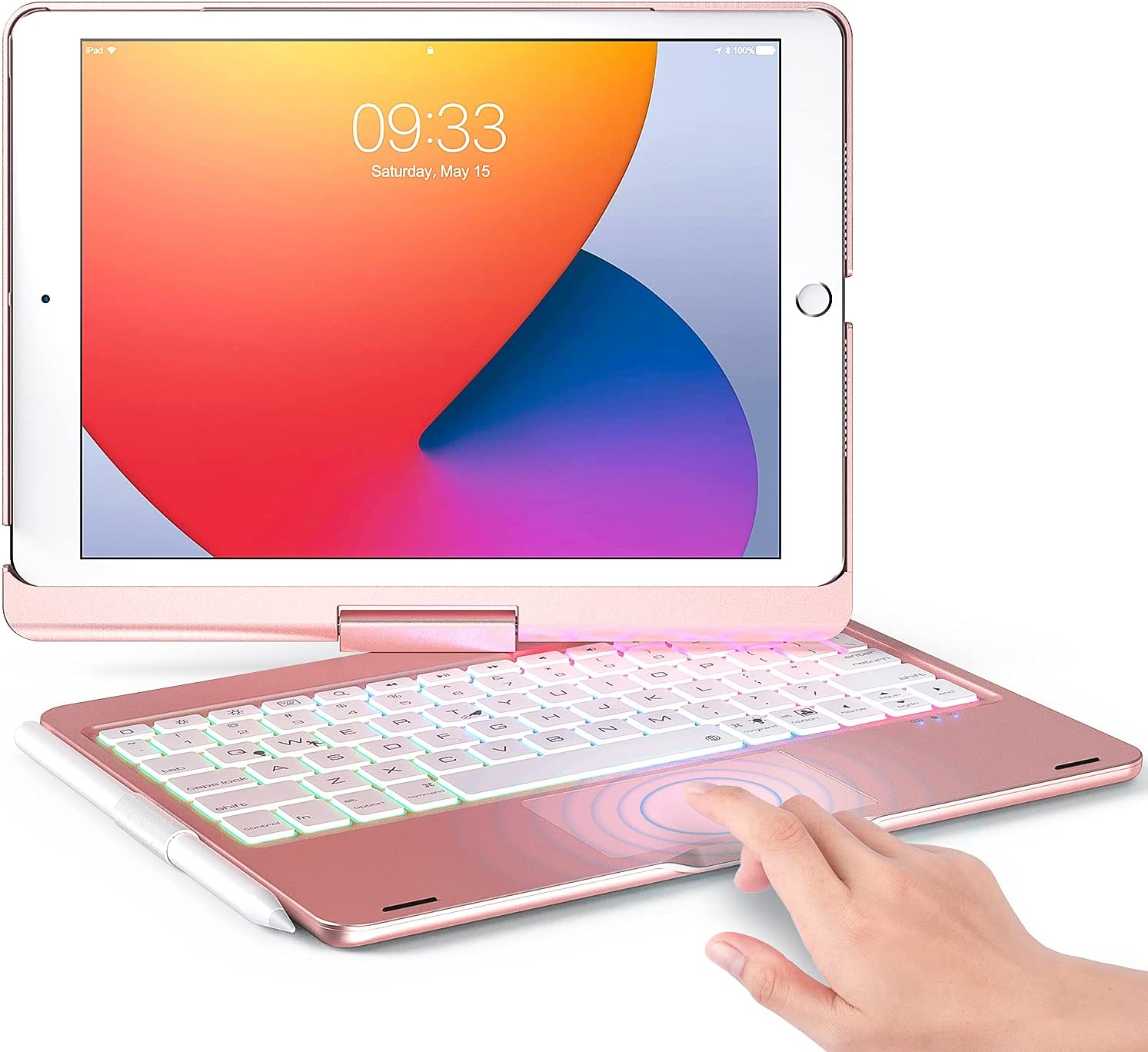 Keyboard Case Compatible with iPad 10.2 (8th/7th Generation) & iPad Pro 10.5 inch & iPad Air 3rd Gen - Wireless Backlight Keyboard with TouchPad for iPad 10.2/10.5.