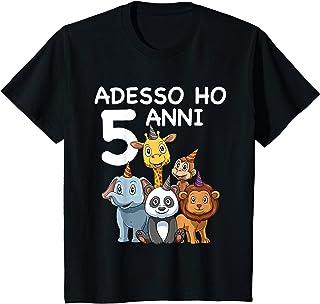 Bambino 5 Compleanno Bambini & Zoo - Regalo Di 5 Anni Maglietta