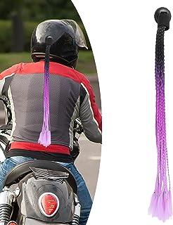 Capacete de motocicleta, rabo-de-cavalo atraente cor gradiente com ventosa para decoração para capacete de motocicleta (pr...