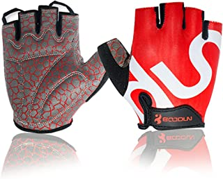 Fred&LC Cycling Gloves Mountain Bike Road Racing Bicycle Motorcycle Riding Shockproof Foam PaddedOutdoor Sports Half Finger Short Gloves Men/Women