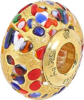 Aleksander sterren Murano Star Muranoglas Charm Hanger Bead Allegria bladgoud 999er sterling zilver 925 verguld