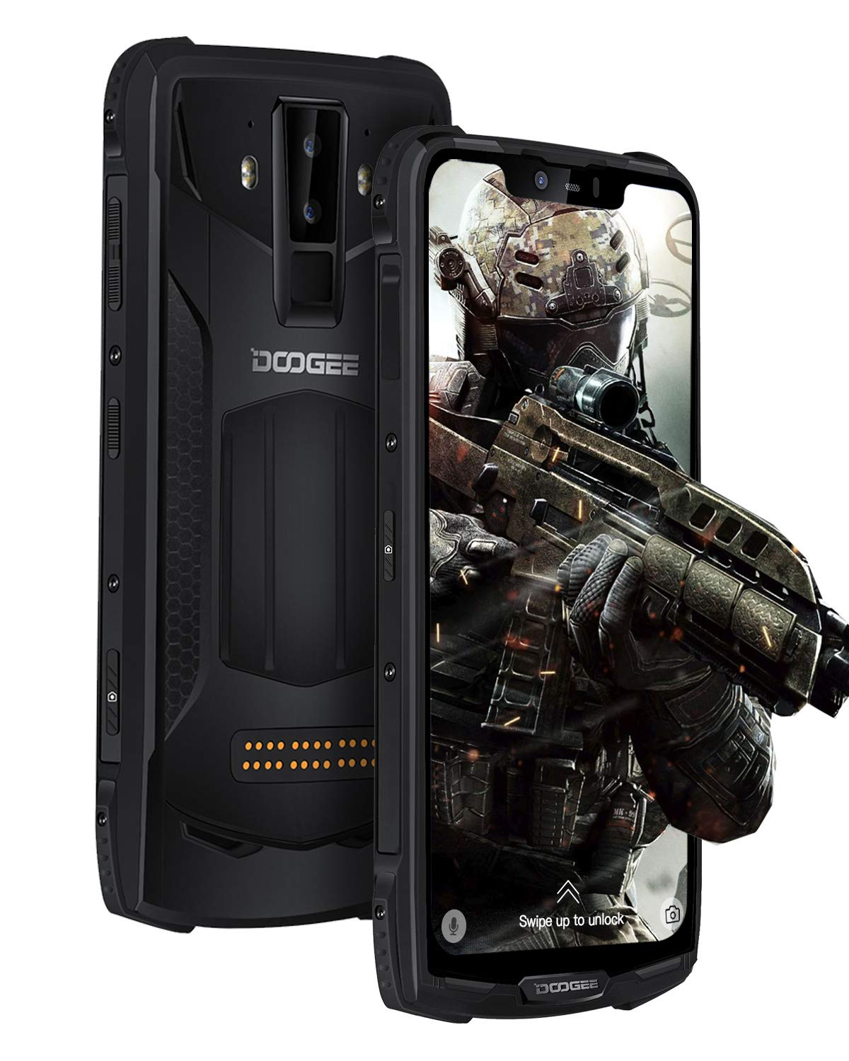 Rugged Mobile Phone Unlocked, DOOGEE S90 Pro Android 9.0 Tough Smartphone Outdoor, 6+128GB Cellphone, 6.18 inch FHD Screen, IP68 Waterproof/Shockproof, 16+8MP AI Camera/5050mAh/GPS/NFC/Wireless Charge