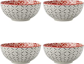 Maxwell Williams 5252397 Boho Bowls, Damask Red, 12.5 cm