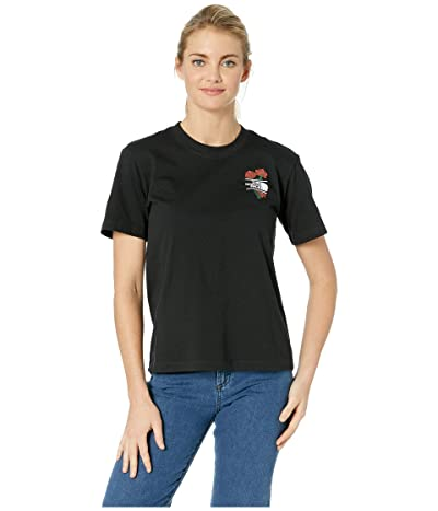 The North Face Short Sleeve Boxy Floral Tee (TNF Black) Women