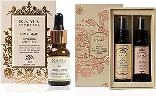 Kama Ayurveda Rose And Jasmine Face Care Box & Kama Ayurveda Kumkumadi Miraculous Beauty Ayurvedic Night Serum, 12ml