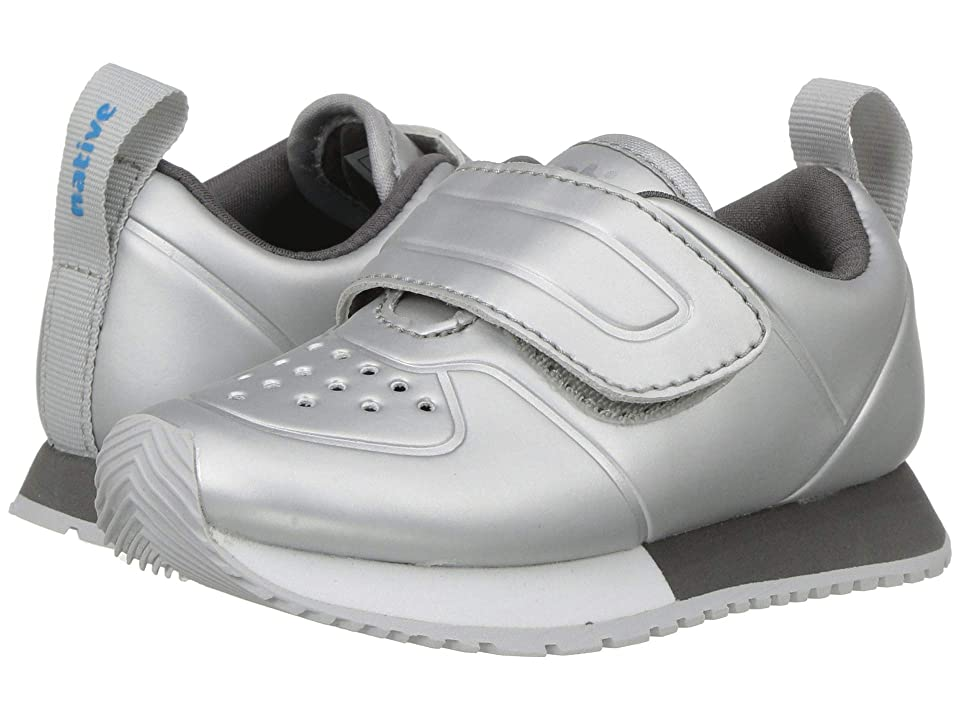 Native Kids Shoes Cornell HL Metallic (Toddler/Little Kid) (Silver Metallic/Shell White/Dublin Grey/Mist Rubber) Girls Shoes