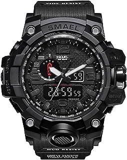 Men's Military Analog Digital Watch Display Sports Watches Multifunctional Large Wrist Watches for Men Waterproof Shock Digital LED