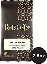 Peet's Coffee House Blend Dark Roast Ground Coffee, 2.5 Ounce Portion Packs (Pack of 18)