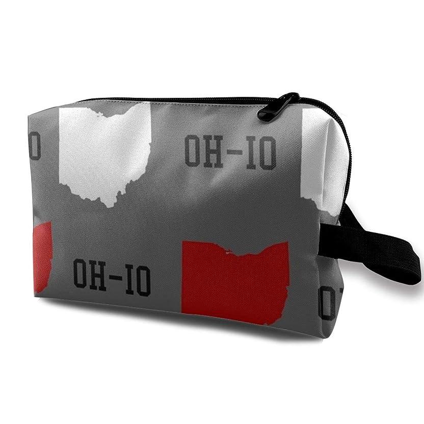 練るごめんなさい育成メイクポーチ オハイオ州立グレイ トラベルポーチ シングルファスナーポーチ 大容量 トラベル コンパクト 旅行収納バック 化粧品収納 便利グッズ 旅行?出張?家庭用