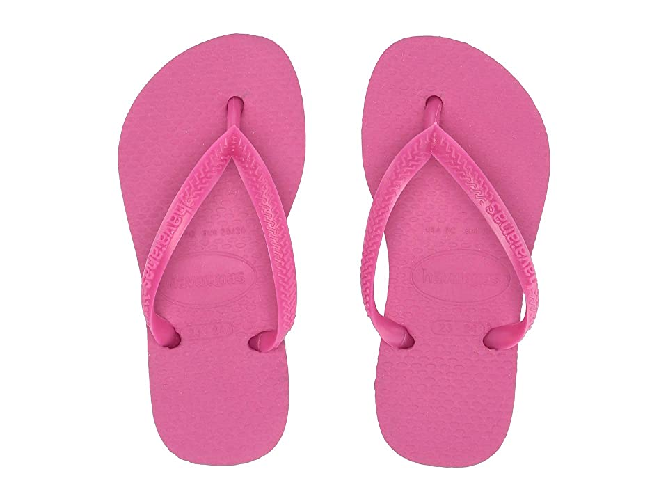 Havaianas Kids Slim Flip Flops (Toddler/Little Kid/Big Kid) (Hollywood Rose) Girls Shoes