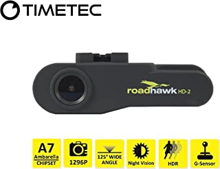 Timetec Road Hawk Car Driving Recorder 2K Super HD Car Vehicle Road Traffic Accident/Incident Dash Windshield Dashboard Video Audio Camera Recorder Camcorder DVR System(New Version Aug 2019)