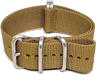 DaLuca Ballistic Nylon Military Watch Strap - Sand (Matte Buckle) : 26mm