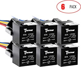 T-Former Automotive Relay Harness Set 5-Pin 30/40A 12V SPDT with Interlocking Relay Socket and Harnesses ( 6 Pack )