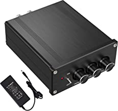 Neoteck 2 Channel Stereo Audio Amplifier Mini Hi-Fi Class D Integrated Amp Digital Power Amplifier with Bass and Treble Control for Home Speakers 100W + 100W