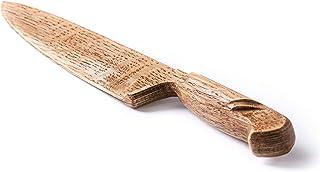 El cuchillo artesanal de madera de roble es el mejor para cortar la decoración suave y delicada del cuchillo de madera del...