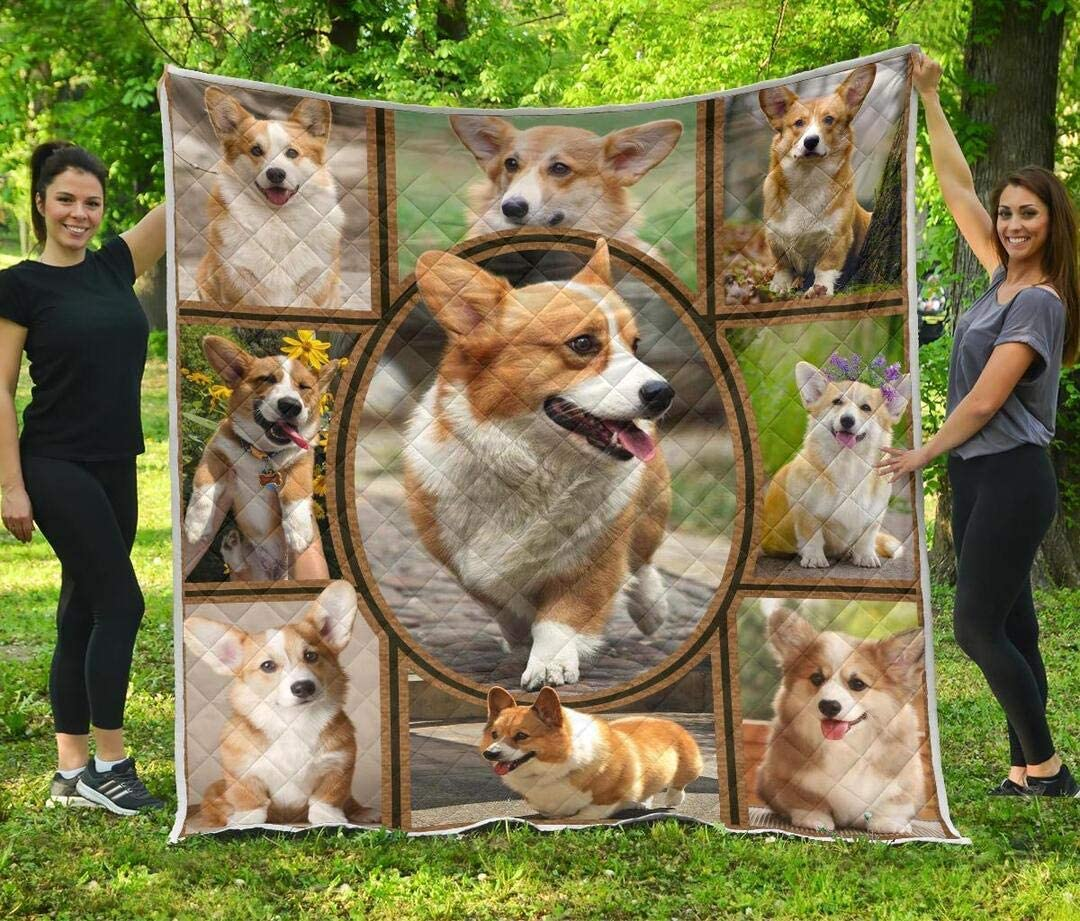 Personalized Corgi Quilt Gift New product! New type for Our shop OFFers the best service Lovers Birthday Your Qui