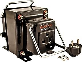 Simran THG-1000T Step Up & Down Voltage Transformer Converter for 110V & 220v/240V, 1000W