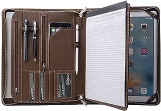 Personalize Crazy-Horse Portfolio Organizer Padfolio Compact Case for 12.9 inch iPad Pro, Letter (A4) Paper