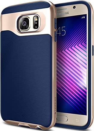 Caseology Wavelength for Galaxy S6 Case (2015) - Stylish Grip Design - Navy Blue