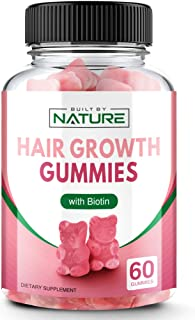 Hair Growth Gummies with Biotin for Hair, Skin, and Nails, 60 Gummies (30 Day Supply)