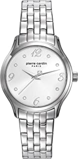 Pierre Cardin Women Gold Dial Stainless Steel Band Watch